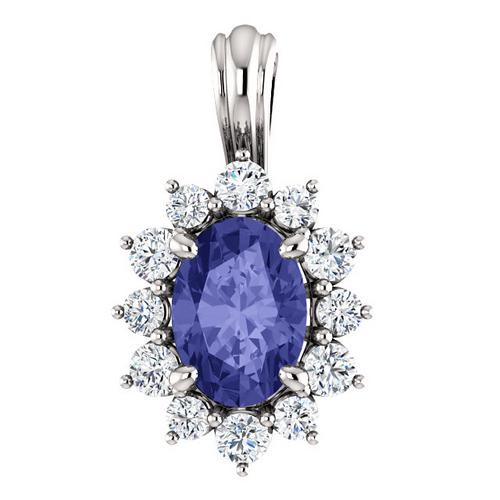 b3a87631 Ingrid smykke med tanzanitt og 0.30 carat diamanter