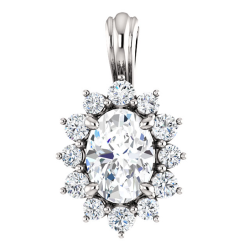0bd8fcc8 Ingrid smykke med hvit safir og 0.30 carat diamanter